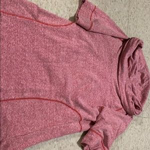 Athleta 3/4 sleeve cowl neck with pockets.